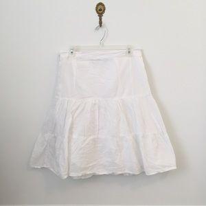 Bhag's White Cotton Wrap Skirt
